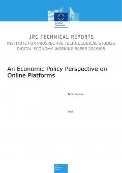 An Economic Policy Perspective on Online Platforms