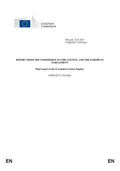 Final Report on the E-commerce Sector Inquiry