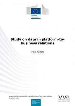 Study on data in platform-to-business relations