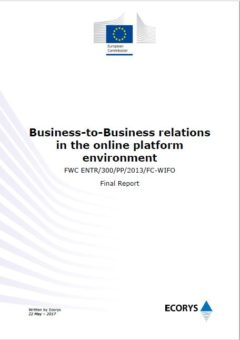 Study on Business-to-Business relations in the online platform environment