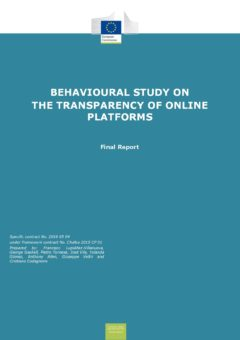 Behavioural study on the transparency of online platforms