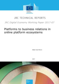 Platforms to business relations in online platform ecosystems