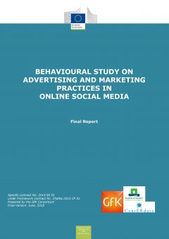 Behavioural study on advertising and marketing practices in social media