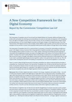 A New Competition Framework for the Digital Economy – Summary (EN)