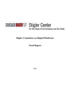 Stigler Committee on Digital Platforms – Final Report