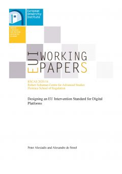 Designing an EU Intervention Standard for Digital Platforms