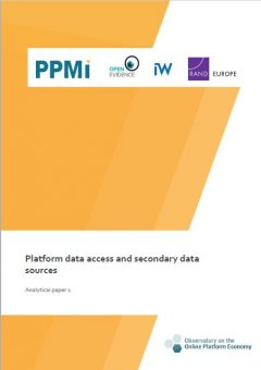 Analytical paper 1: Platform data access and secondary data sources