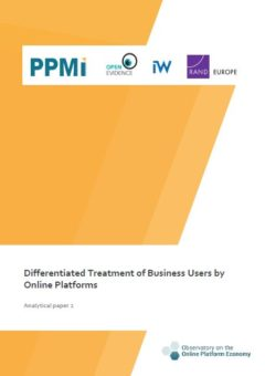 Analytical paper 2: Differentiated treatment of business users by online platforms