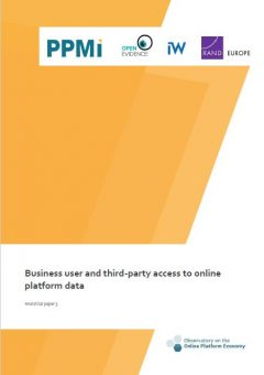 Analytical paper 5: Business user and third-party access to online platform data