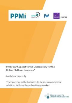 Analytical paper 3: Transparency in the business-to business commercial relations in the online advertising market