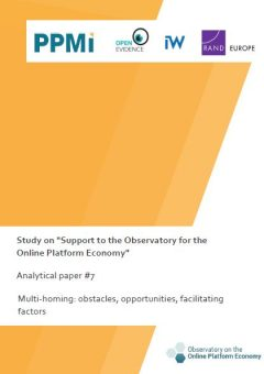 Analytical paper 7: Multi-homing: obstacles, opportunities, facilitating factors