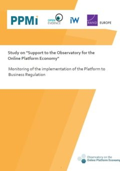 Monitoring of the implementation of the Platform to Business Regulation