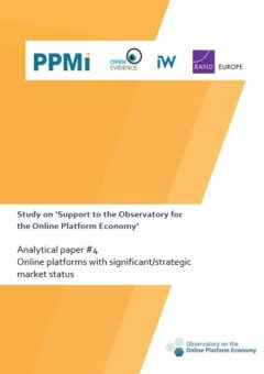 Analytical paper 4: Online platforms with significant/strategic market status